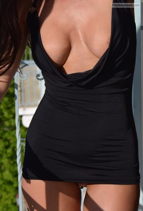ginandhubby: Do you remember the little black dress ? ???????❤️ public flashing no panties