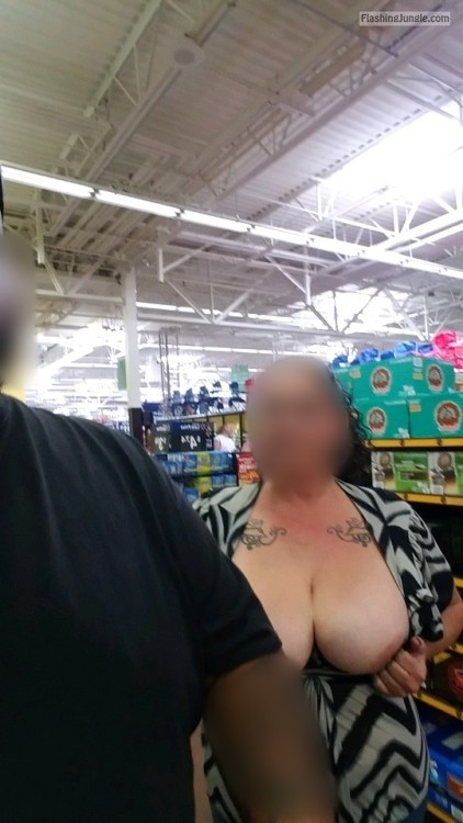 walmartflash:Wifey was feeling brave. We got caught but they... public flashing mature flashing store boobs flash
