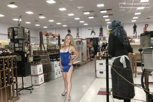 angelmarx: She loves to let them breath public flashing flashing store boobs flash