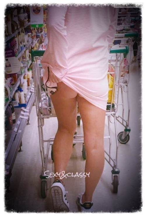"sexyandclassycouple: ""No panties grocery shopping"" ?? For more... no panties"