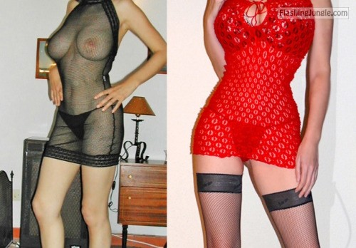 a slutty naughty hotwife: Black or red fishnet? both are very... howife