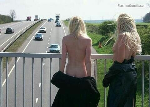 questionsandacts: Get a friend to flash traffic with you. public nudity public flashing