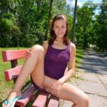 Teen pussy available for licking in public park