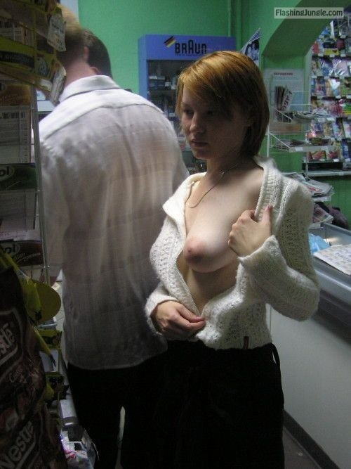 Pinterest public flashing flashing store boobs flash