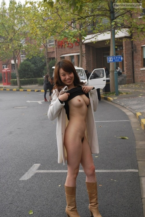 Photo public nudity public flashing boobs flash
