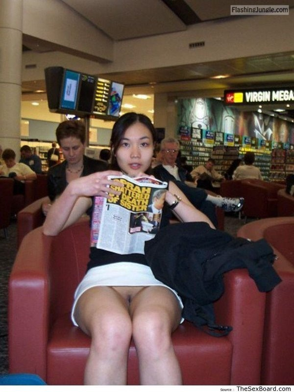 Asian girls flashing in public