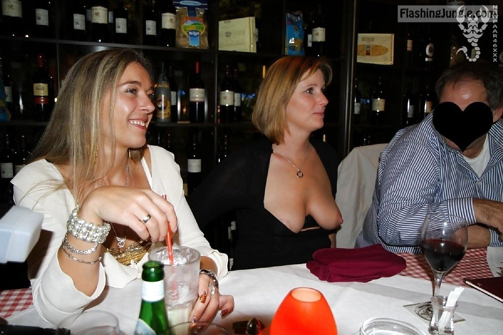 Boob showing nude party