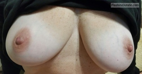 Busty granny mature boobs flash