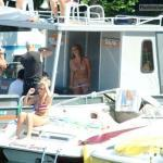 public swinging on boat