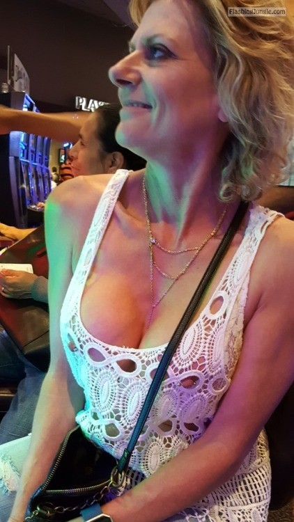 Mature woman nipples in casino public flashing milf pics mature boobs flash