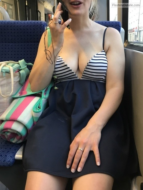 My wifes cleavage while talking on phone howife
