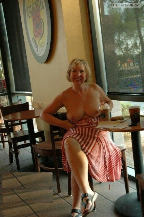 Flashing nice milf