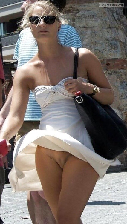 Public Flashing No Panties