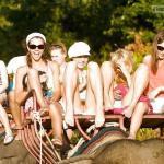 Pantyless elephant ride