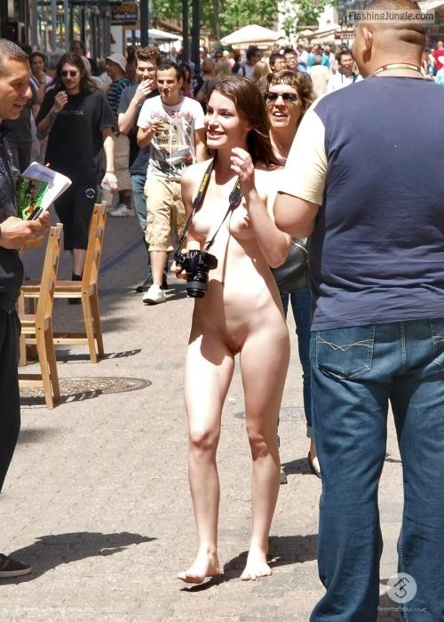 Naked photographer public nudity
