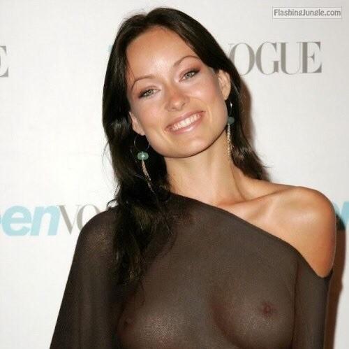 olivia wilde see through blouse visible nipples voyeur boobs flash