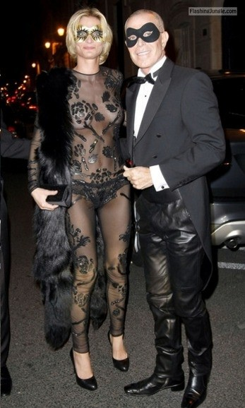 Visible breasts see through costume hotwife style howife boobs flash