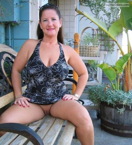 Women public mature flashing
