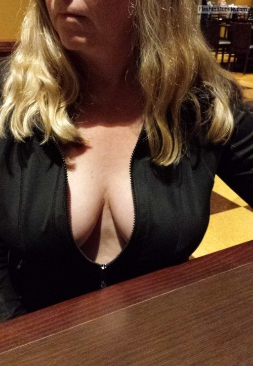 Seems me, milf braless cleavage consider