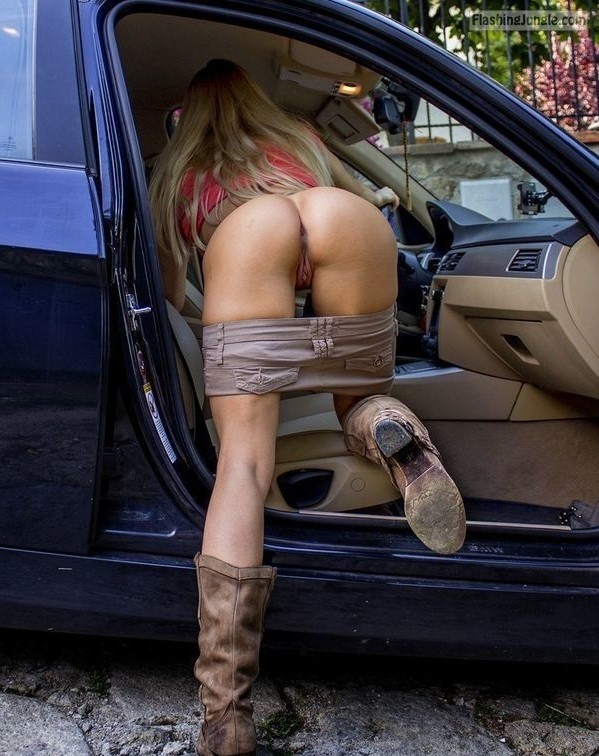 Bend over milf in car