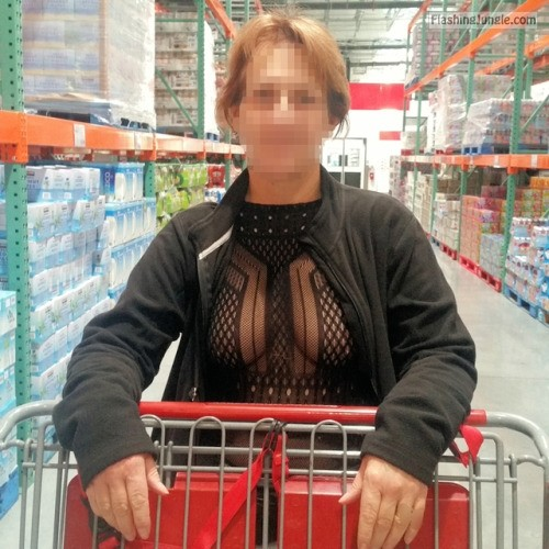 Wife just made the first step: see through blouse no bra milf pics flashing store boobs flash