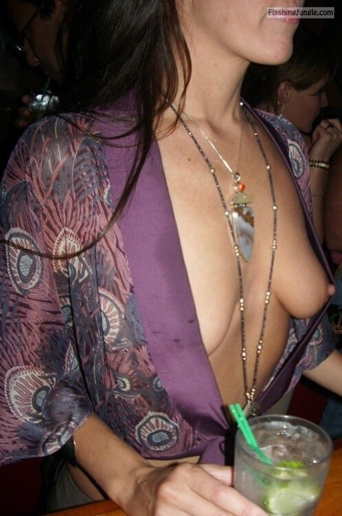 Nipples bra downblouse no