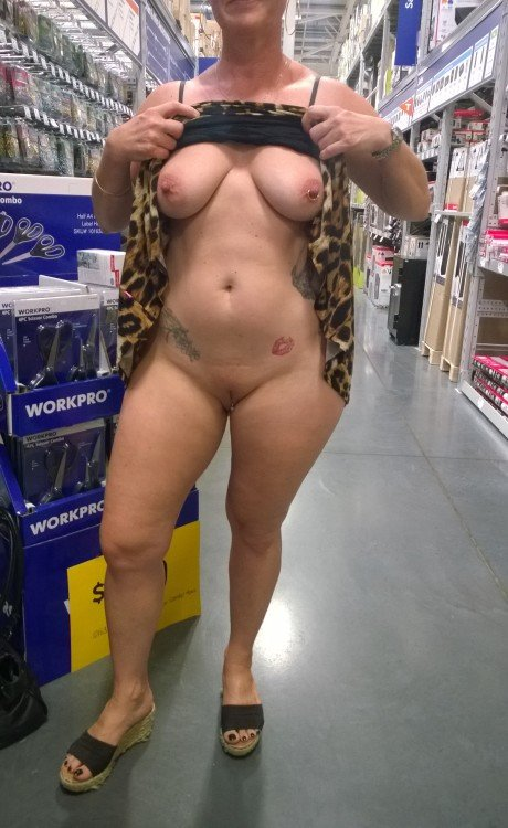 neddyndragonfly: Having some fun at the hardware store. no panties