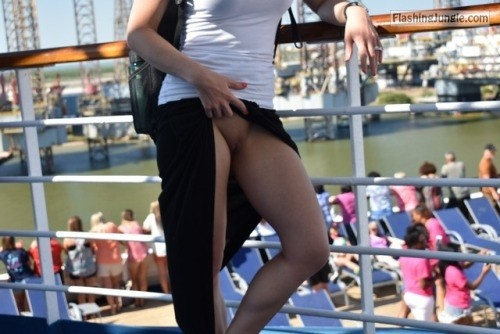 willshareher: Elle doing her thing while on our cruise.... public sex