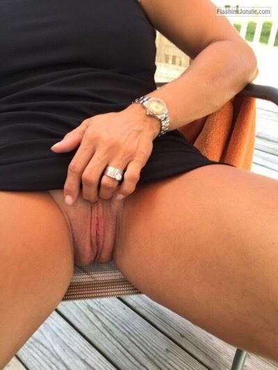 Sweet pussy… public flashing