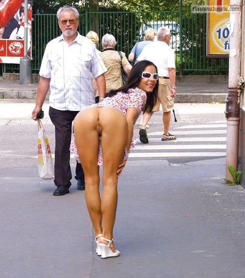 itskkiss:When she is out with him….. your wife is very game and... public flashing