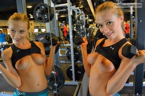 Ya know… down at the gym they have mirrors on just about... public flashing