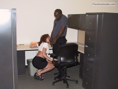 My wife always liked to show her appreciation to the office's... public flashing
