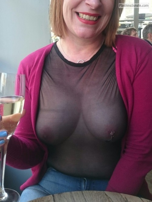 nice breasts.. hot seethrough  more please public flashing