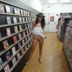 outdoornudeselfpics: Sex shop flashing!