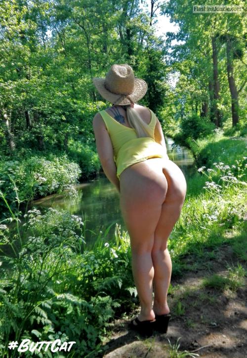 mastersbuttcat: sunny sunday with #buttcat no panties