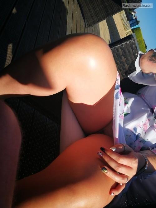 richaz69: Beer garden in the sun no panties