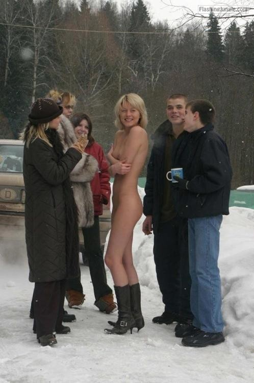 "fanofenf: ""Aren't you guys cold?"" ""No."" Not... public flashing"