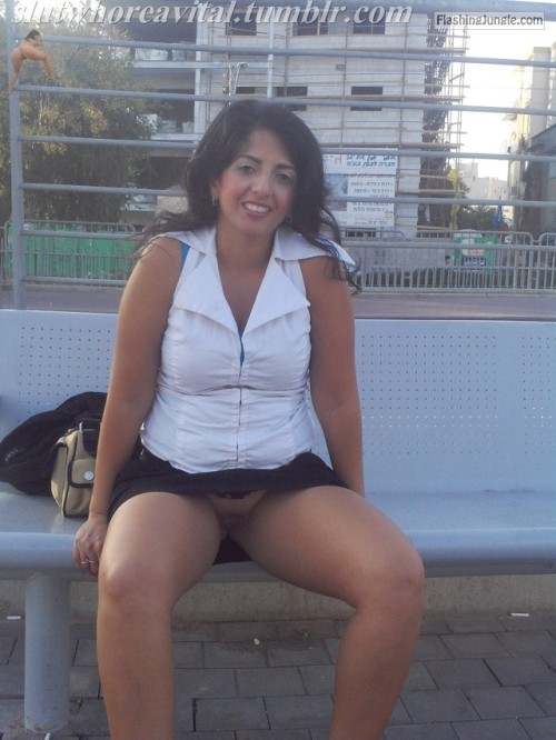slutandwhoreavital: WAITING FOR THE BUS I NEED A COCK BAREBACK no panties