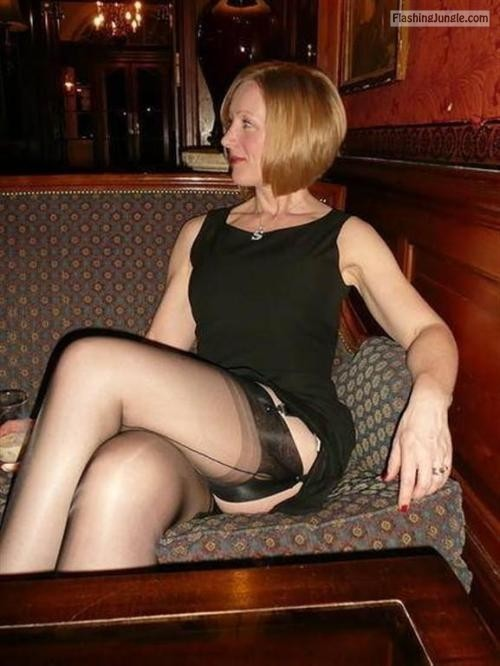 sexyseamedstockings: Seamed Stockings of the day 4th July 2013 public flashing