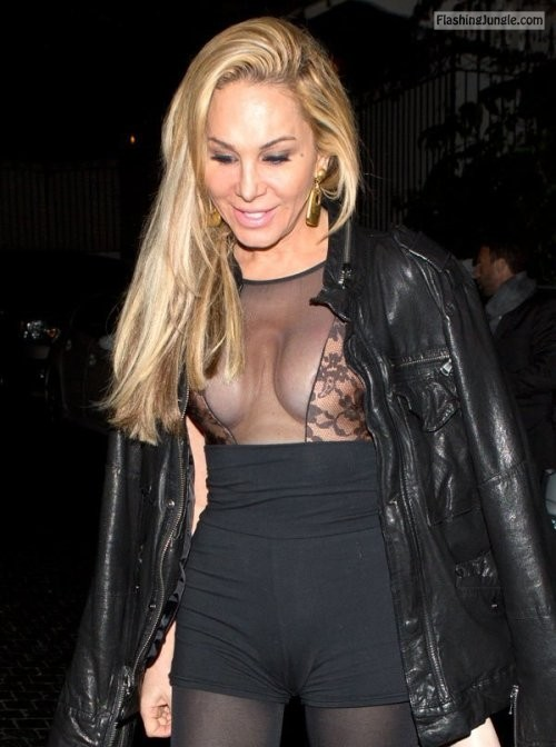 wardrobemalfunction:Adrienne Maloof   Seethru   Nipples  ... public flashing
