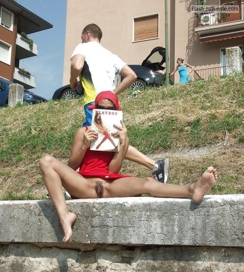 luftige zeiten: Manche Dauerläufer sind Egoisten… public flashing