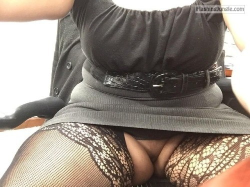 loveflashing: At work like 😋 no panties