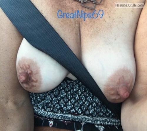 greatnips69:Yeah, so, GreatNips69 is out with friends tonight.... public flashing