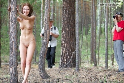 "fanofenf: ""Uh, babe, why are my hands stuck to this tree?"" ""It's... public flashing"