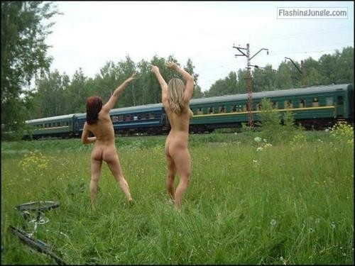 fanofenf:After losing a bet, Emma and Sarah had to flash the... public flashing