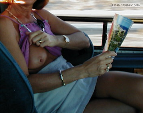 yourhappytraveler:Back seat of a cab in Cabo.  public flashing