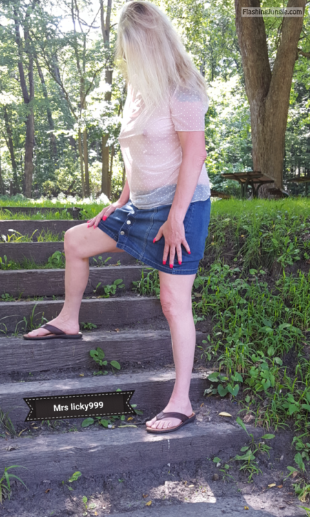 licky999: My sexy wife in another park!!! The first of this... no panties