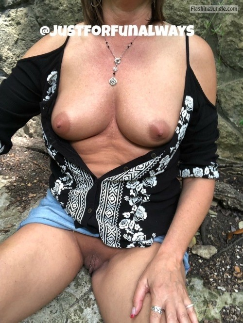 justforfunalways: Stopped to have lunch at the park. I love... no panties