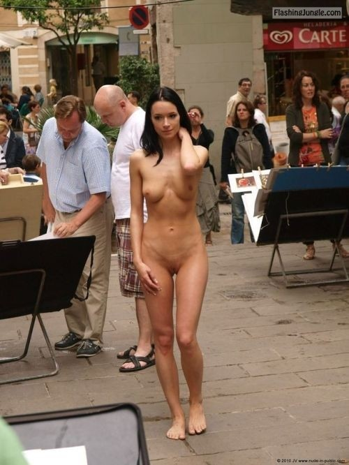 i am nude by nature: Visual art Follow me for more public... public flashing