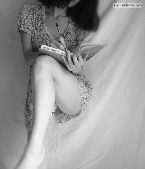 mariarosehearts: Writing down the desires of my naughty... no panties